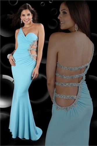 2012 One-shoulder Sparkle Prom Dress 71040