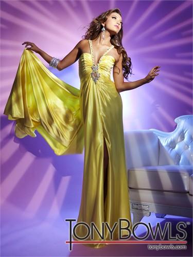 Yellow Tony Bowls Prom Dress 112539