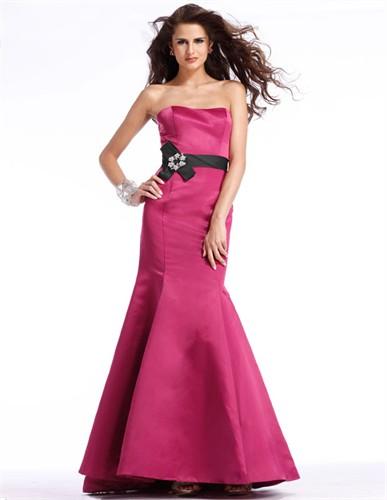 Satin Mermaid Prom Dress 1390