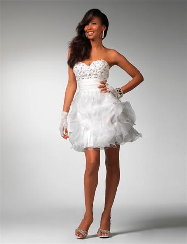 Short Ruffled Formal Dress 1503